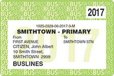 Buslines Student Bus Pass