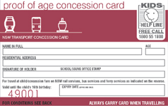 proof of age card